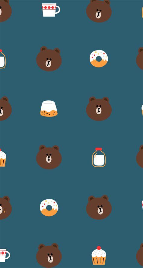 Wallpaper King Lines Brown lineのクマ iphone5s壁紙 待受画像ギャラリー