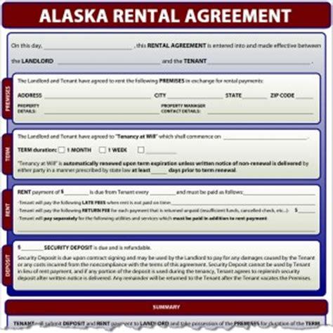 Alaska Rental Agreement Alaska Residential Lease Agreement Template