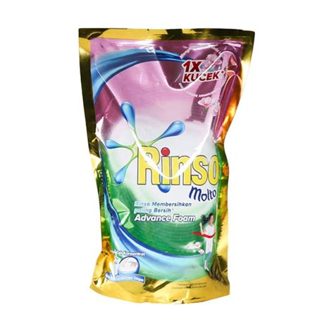 Rinso Molto Ultra Cair Saset jual rinso molto liquid detergent pouch 800 ml