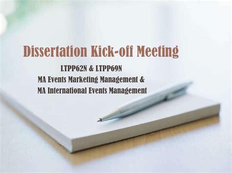 dissertation meeting dissertation kick meeting