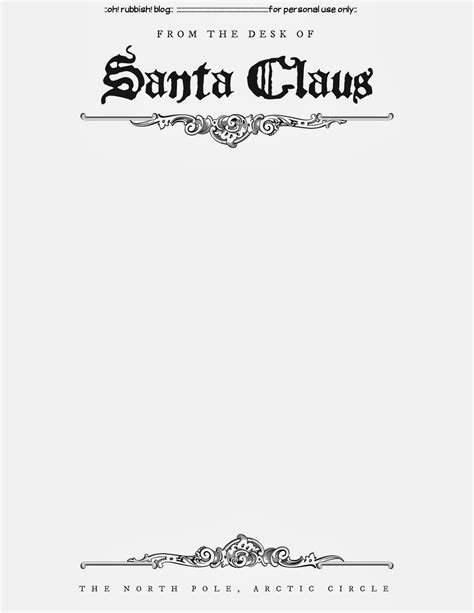 Santa Letter Templates Christmas Printables 5 Santa Letter Santa Letter Template Santa Free Letter Template