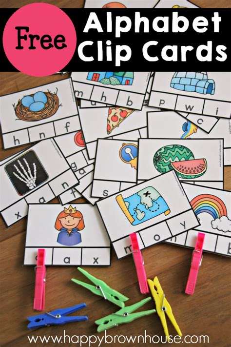 Printable Beginning Sound Picture Cards free beginning sounds clip cards free homeschool deals
