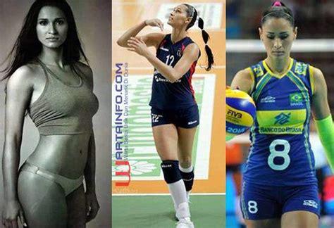Celana Voli Ketat foto jaqueline carvalho atlet voli wanita cantik terseksi brasil 2016 wartainfo
