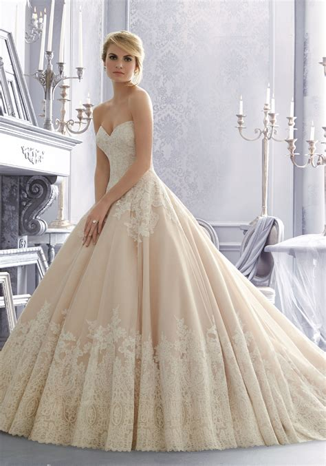 Brautkleider Organza by Lace On Organza Wedding Dress With Wide Hemline Style