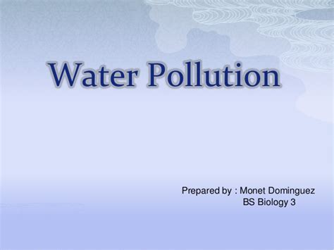ppt templates for water pollution water pollution ppt