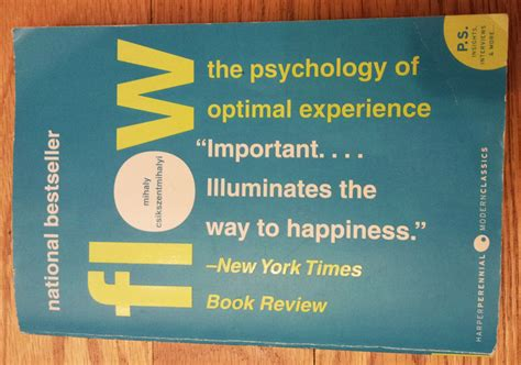in the flow books quot flow quot by mihaly csikszentmihalyi hathayoga