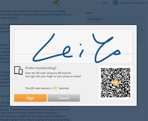 Zenefits Offer Letter How Do I Sign Documents Using The Qr Code