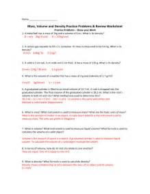 density worksheet answers worksheets for