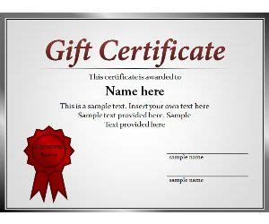 powerpoint gift certificate template certificate powerpoint template