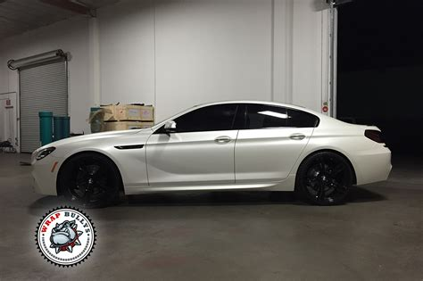 white wrapped cars bmw m6 wrapped in 3m satin pearl white wrap bullys
