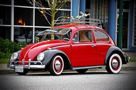 volkswagen old red red and black classic vw beetle vw beetles pinterest