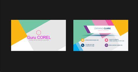 template id card keren format coreldraw guru corel