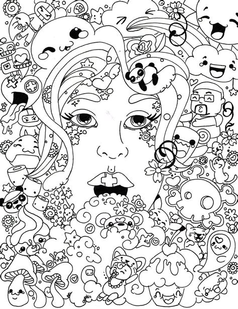 colored pages printable trippy coloring pages coloring home