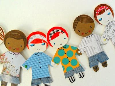 Paper Doll Craft Ideas - paper doll bunting things to make and do crafts and
