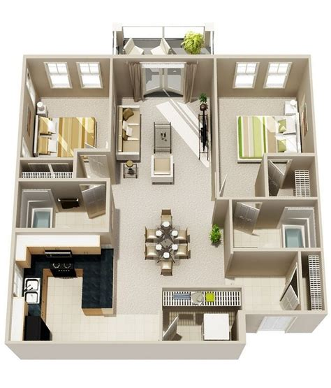 home design 3d levels two bedroom two bath floor plan with optimal health