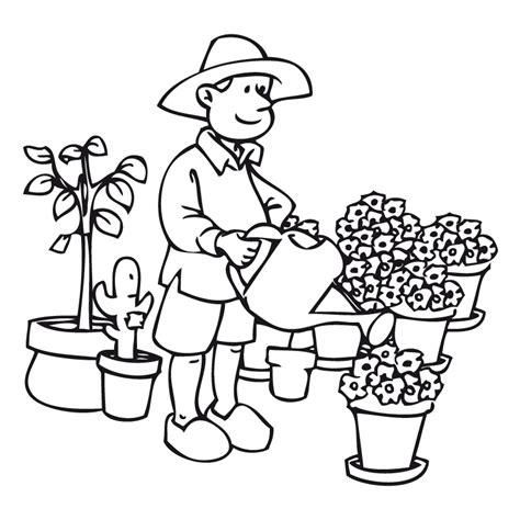 imagenes para colorear jardin jardinero dibujalia dibujos para colorear elementos