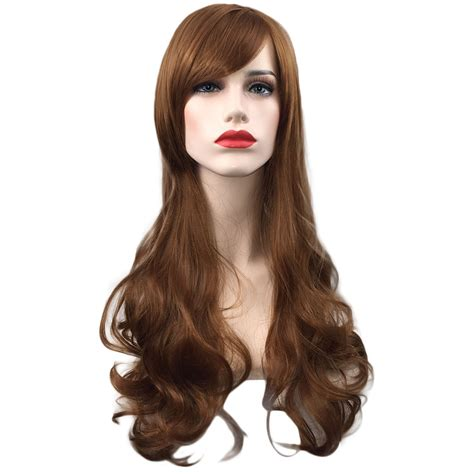 how to style costume wigs women girl fashion long wavy curly hair cosplay costume