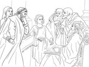 coloring pages jesus boy boy jesus in the temple coloring page free printable