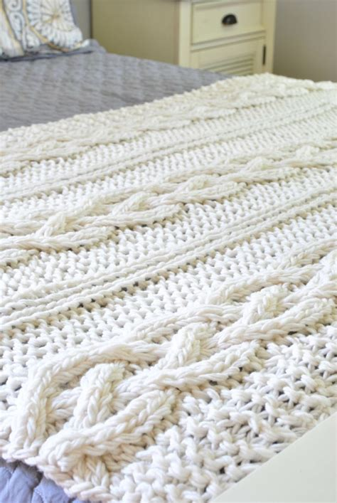 cable knit blanket pattern 25 best ideas about cable knit blankets on