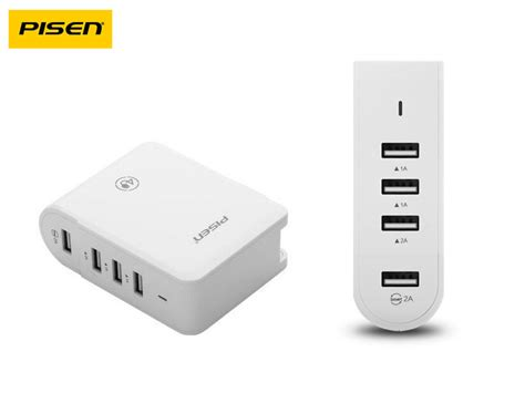 Port 4usb Usb 4port Fdt pisen usb socket charger 4usb port charger