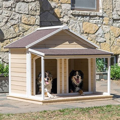 large dog house for multiple dogs antique large dog house w roof solid wood penthouse kennels crates duplex 51x43x43 w