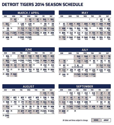 printable tigers schedule search results for detroit tiger printable schedule