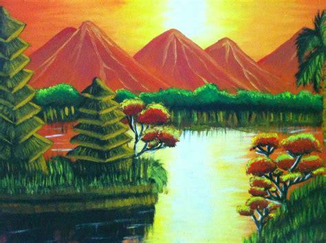 cara membuat lukisan abstrak cara membuat lukisan pemandangan