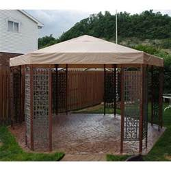 Canopy Course by Sams Club Psi Hexagon Gazebo Replacement Canopy Garden Winds