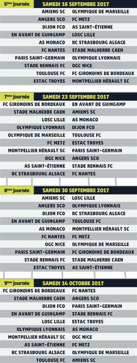 Calendrier Ligue 1 Psg Calendrier Ligue 1 Psg 28 Images Football Ligue 1 L1