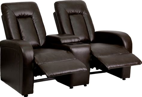 2 seater leather recliner used eclipse series 2 seat reclining brown leather theater