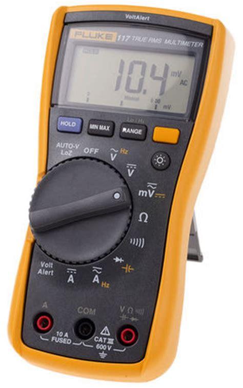 Digital Multimeter Fluke 117 fluke 117 eur fluke 117 digital multimeter 10a ac 600v
