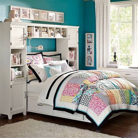 hton storage bed and bookcase tower set hton storage bed bookcase tower bed set pbteen