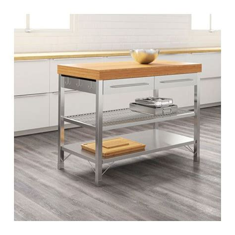Ikea Lillangen Kaki Meja Stainless Steel rimforsa work bench stainless steel color stainless steel