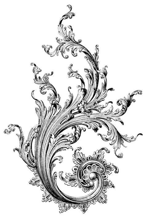 filigree tattoo design 14 filigree designs images filigree scroll baroque