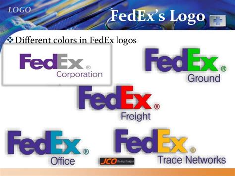 fedex colors fedex logo