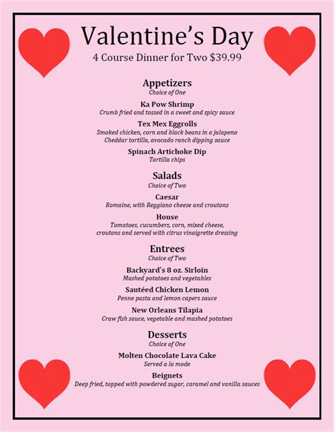 valentines day brunch s day dinner backyard grill restaurant