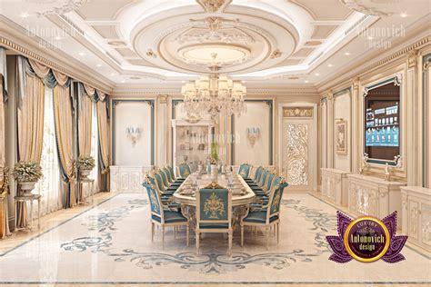 big villa dining room interior