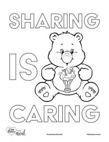 Share Your Care Day Printable Care Bears Coloring Pages Caring Coloring Pages