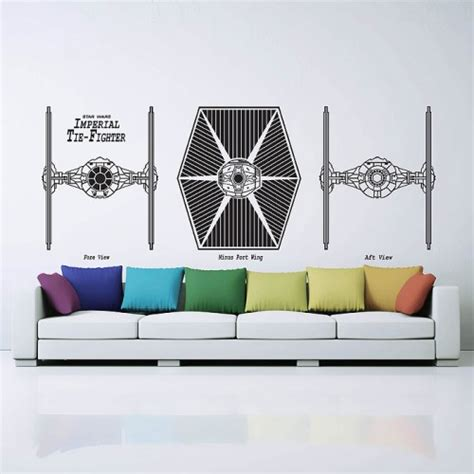 Star Wars Wandaufkleber by Imperial Tie Fighter Star Wars Wandaufkleber Wandtattoo