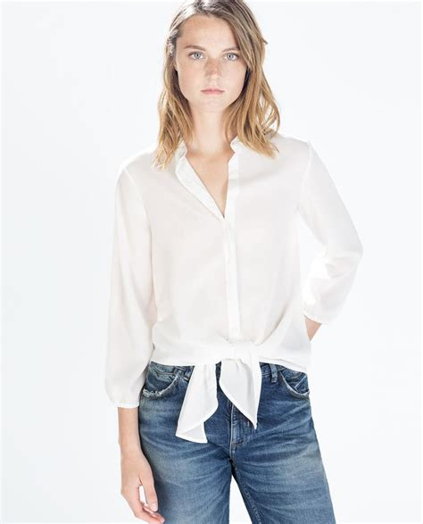 how to tie waist tie waist blouse from zara style