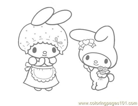 hello kitty and my melody coloring pages my melody coloring page free hello kitty coloring pages
