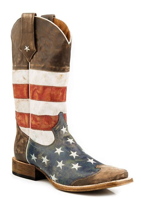 pungo ridge roper s distressed american flag square