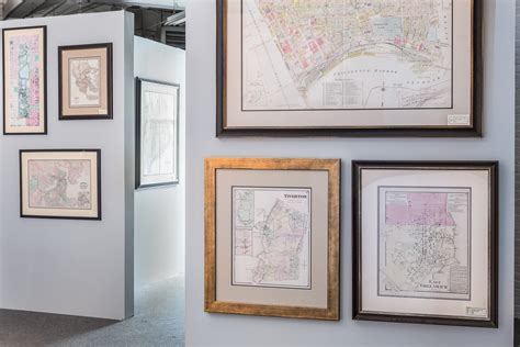 map picture frame antique maps charts providence picture frame