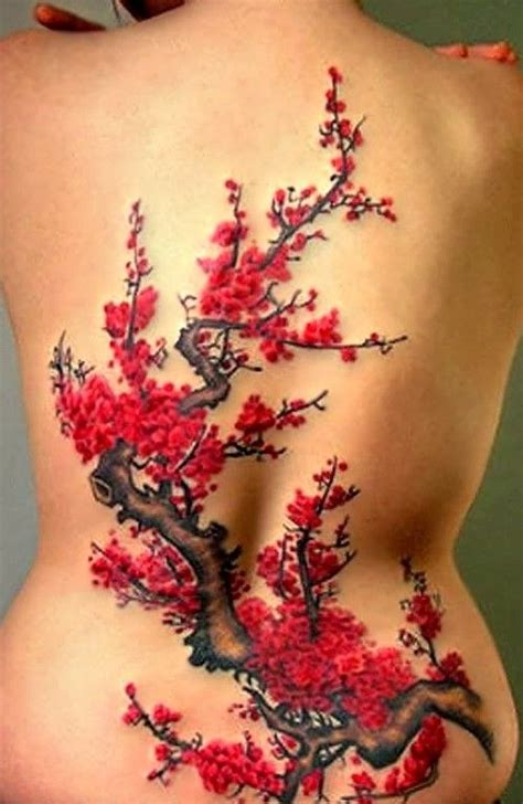 tattoo flower tree large nice flowering tree tattoo tattooimages biz