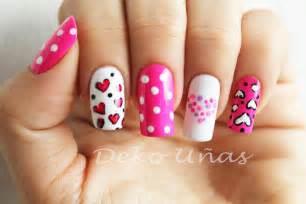 De u 241 as corazones amp puntos heart amp dots nail art youtube