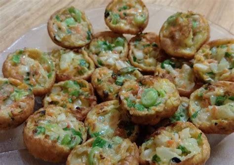 resep martabak telur mini mix sayuran oleh halimatus sa