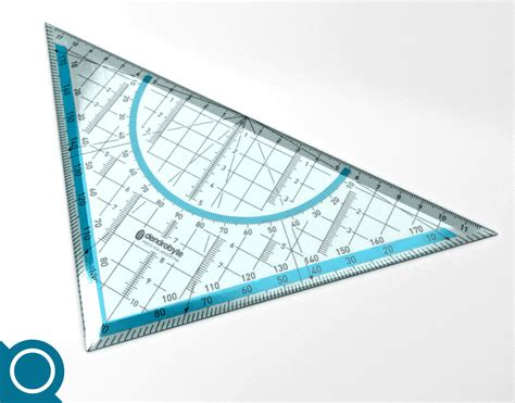 printable geometric ruler geo ruler geometry ruler 3d model max fbx c4d ma mb