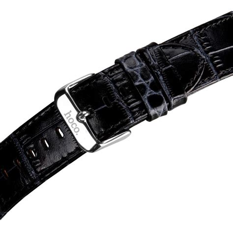 Murah Apple Hoco Leather Band Pago Style 42mm Blue hoco alligator style leather band for apple 42mm