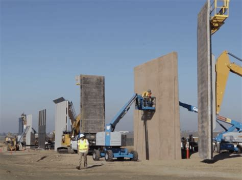 House Wall Design watch border wall prototypes almost complete breitbart