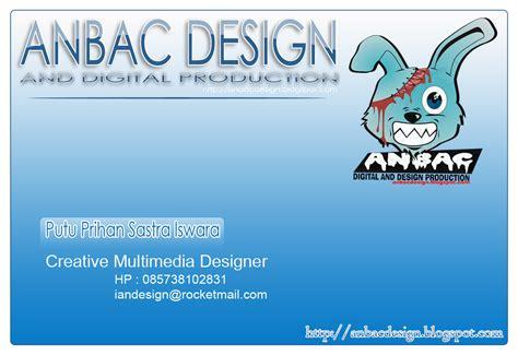 contoh desain kartu nama vector contoh desain kartu nama anbac design and it solution